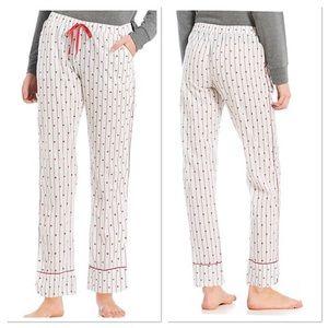 PJ Salvage Heart Print Woven Sleep Pants